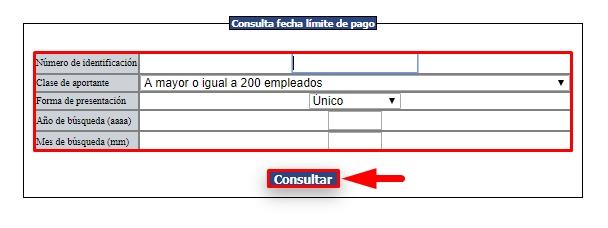 Consulta de fecha de vencimiento PILA
