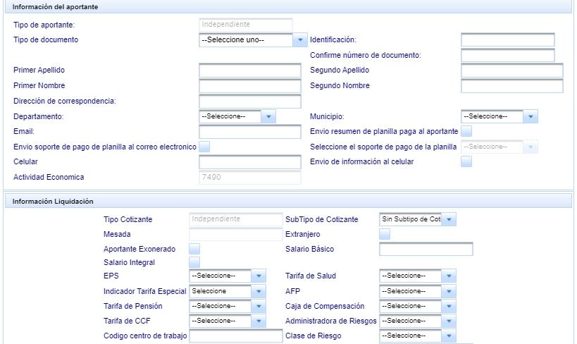 Registro de PILA asistida paso 5
